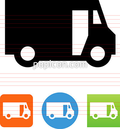 Vector Side View Delivery Truck Icon