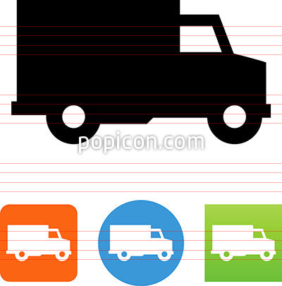 Vector Side View Truck Icon