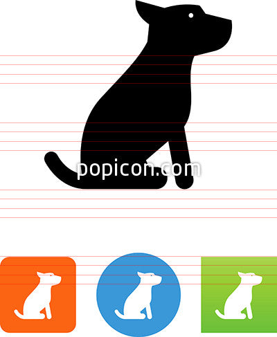 Vector Sitting Dog Icon