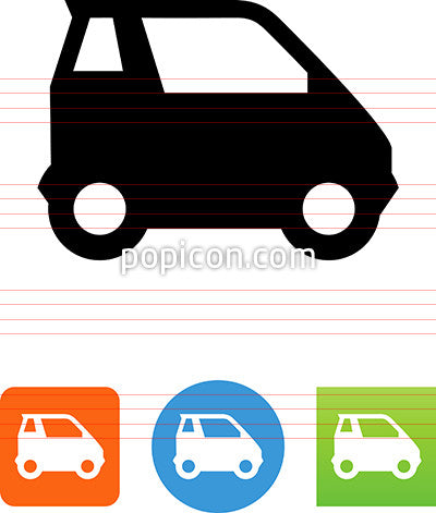 Vector Smart Car Side View Icon