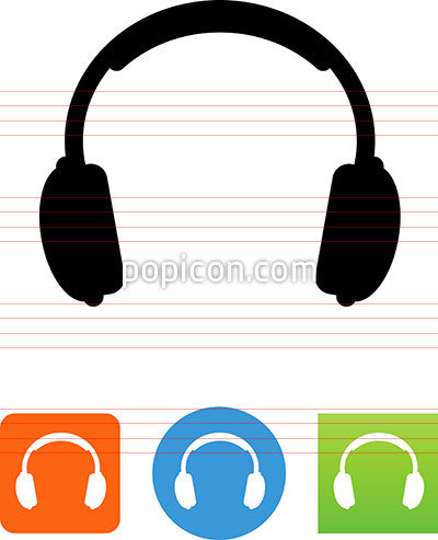 Vector Stereo Headphones Icon