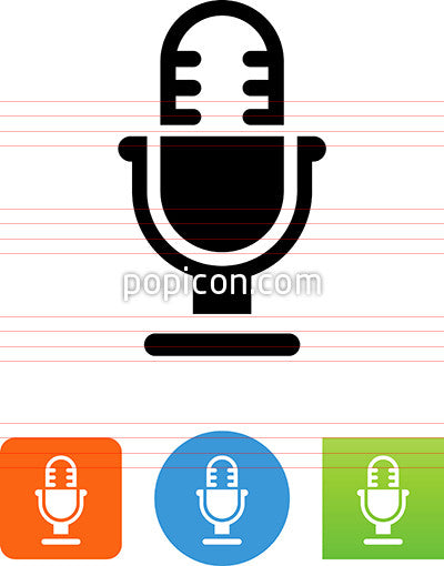 Vector Studio Microphone Icon