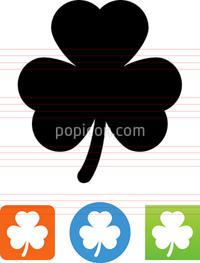 Vector Three Leaf Clover Icon