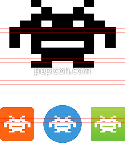 Video Game Alien Icon