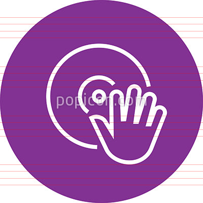 Vinyl Record DeeJay Outline Icon