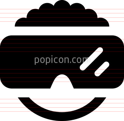Virtual Reality Headset Vector Icon