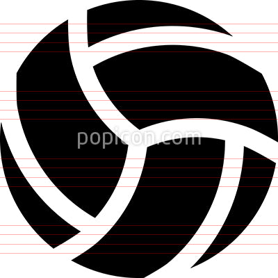 Volleyball Sport Vector Icon
