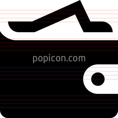 Wallet Billfold Vector Icon
