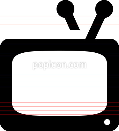 Watch TV Vector Icon