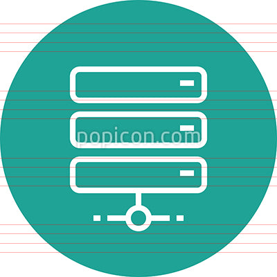 Web Server Network Outline Icon