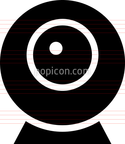 Webcam Desktop Camera Vector Icon