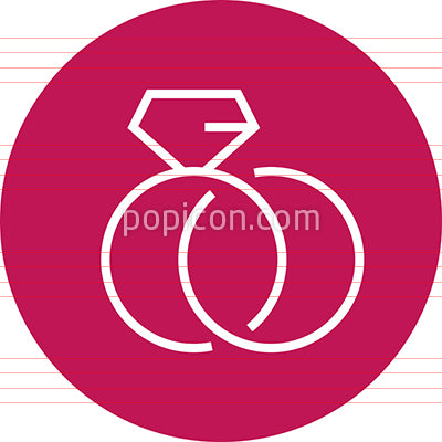 Wedding Rings Engagement Outline Icon