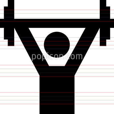 Weight Lifter Strongman Vector Icon