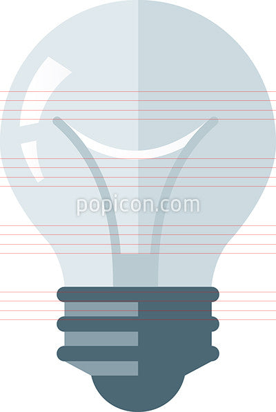 White Light Bulb Icon - Flat Color Series