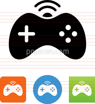 Wireless Video Game Controller Icon