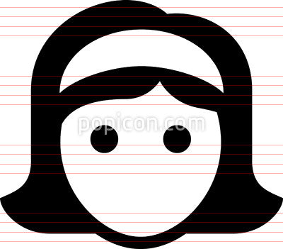 Woman Wearing Headband Icon