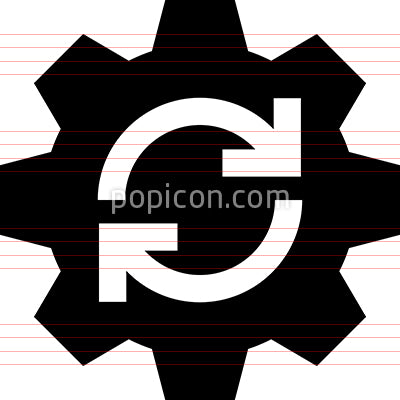 Workflow Gear Arrows Vector Icon