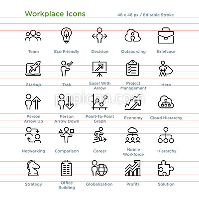 Workplace Icons - Outline