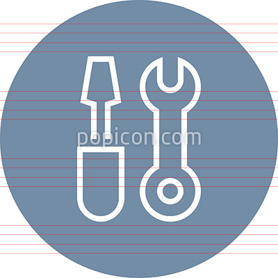 Wrench Screwdriver Tools Outline Icon