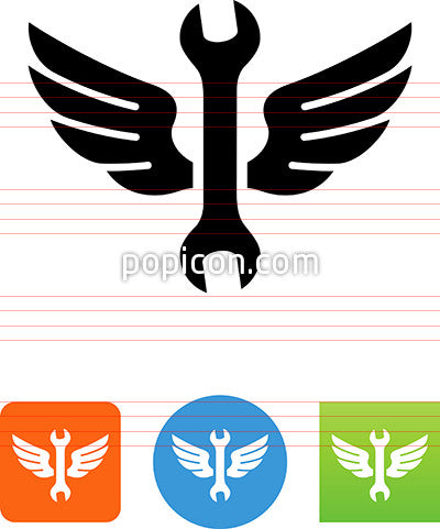 Wrench With Wings Icon