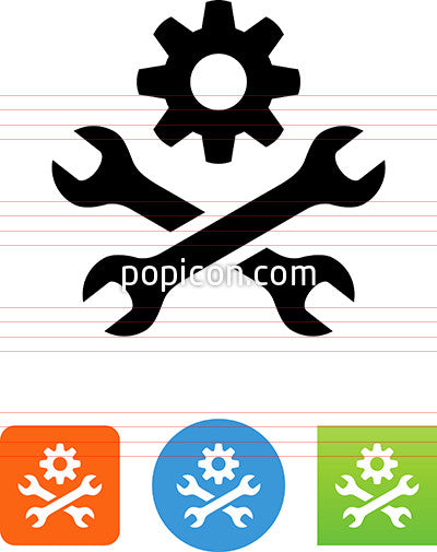 Wrenches And Gear Icon