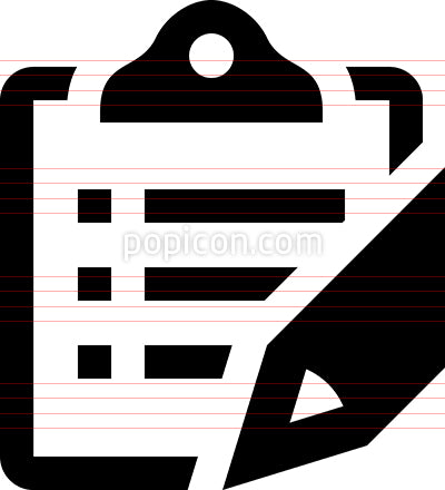 Write To Clipboard Vector Icon