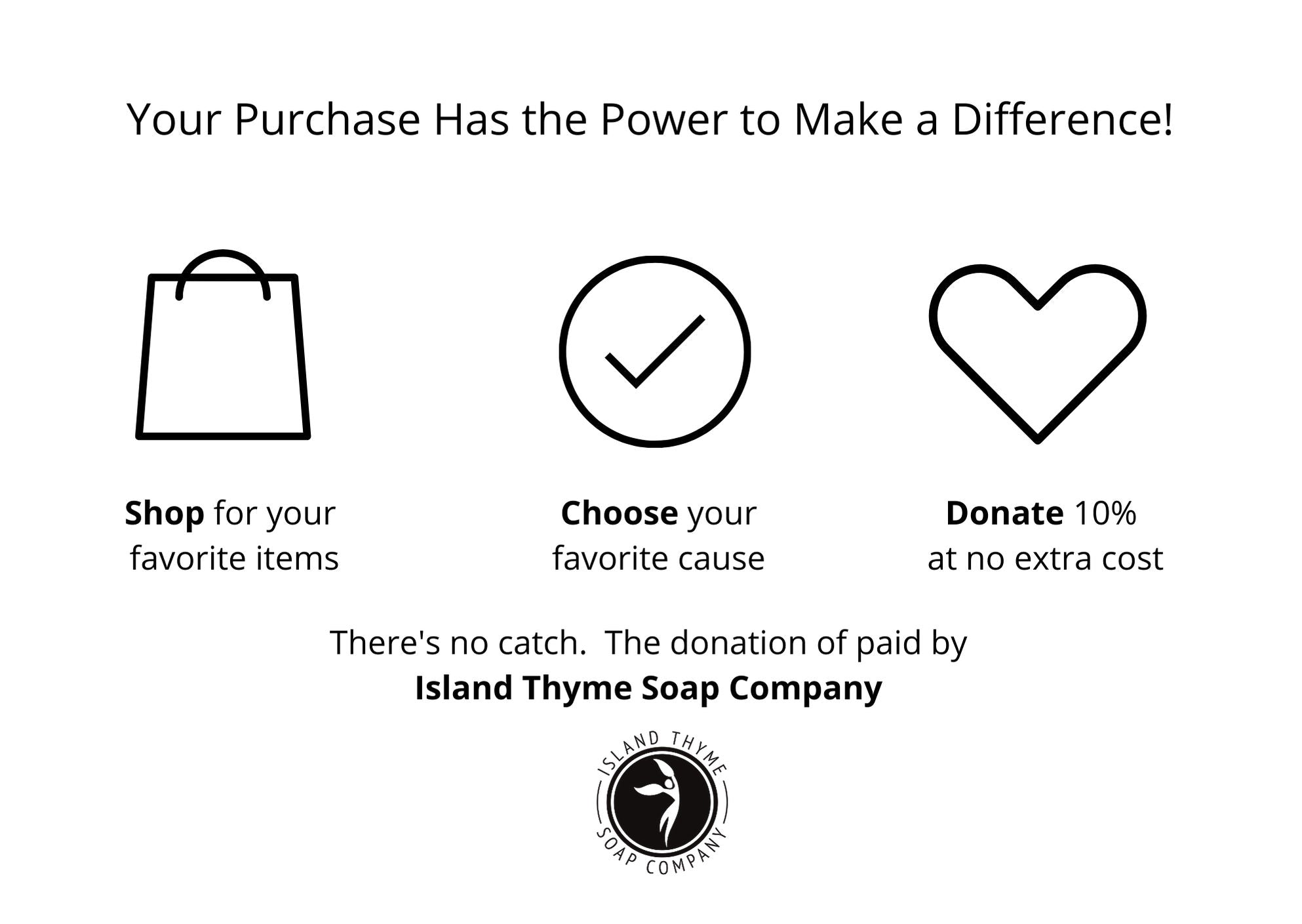 Giving Back at Island Thyme Soap Company