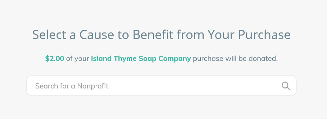 Island Thyme Soap Company Giving Back example 2
