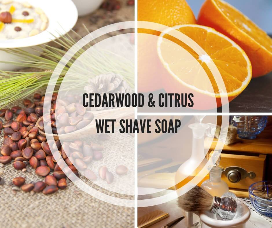 Cedarwood & Citrus Wet Shave Soap - Island Thyme Soap Company