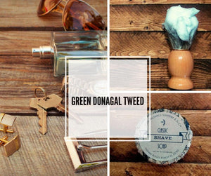 Green Donegal Tweed Wet Shave Soap - Island Thyme Soap Company
