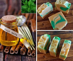 Lemongrass and Mint Soap - Island Thyme Soap Company