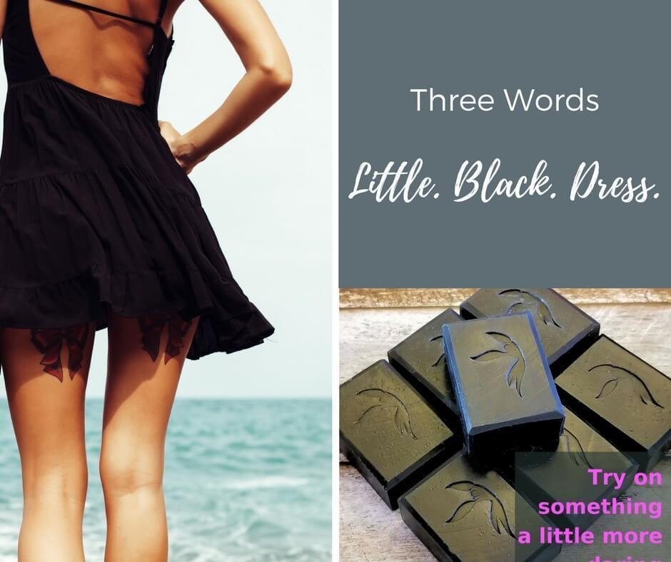 Little Black Dress Activated Charcoal Soap - Island Thyme Soap Company