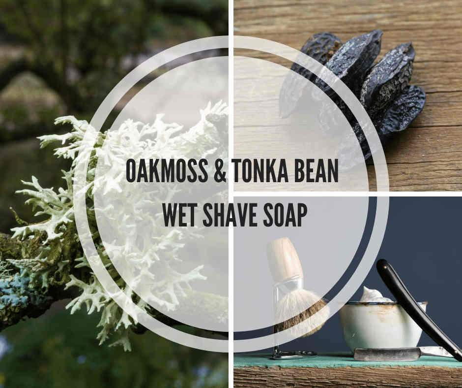 oakmoss & tonka bean wet shave soap