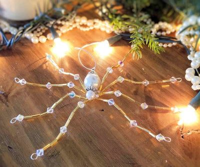 Swarovski Crystal Christmas Spider Ornament