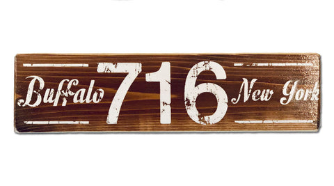 716 rustic wood sign