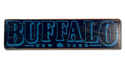 Buffalo, New York rustic sign