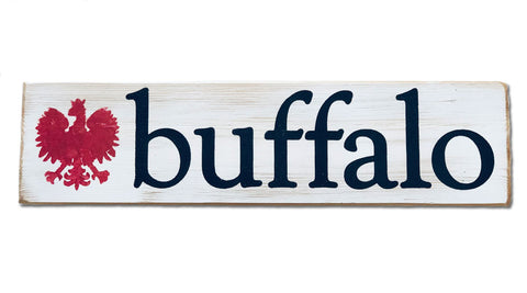 Buffalo Polish rustic sign