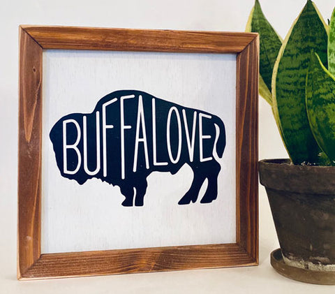 Buffalove Farmhouse sign