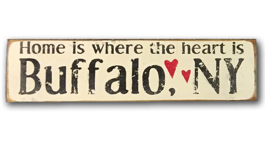 Home is where the heart is rustic wood sign