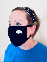 3-Pack of (mixed colors) little Buffalo Face masks