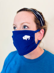 3-Pack of Blue little Buffalo Face masks