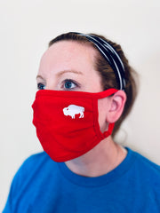 3-Pack of Red little Buffalo Face masks