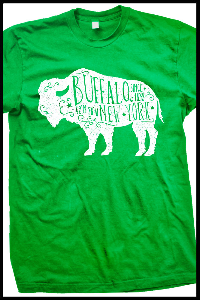 Rustic (Green) Buffalo t-shirt