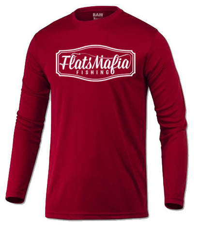 Red Dri-Fit Long Sleeve Tee