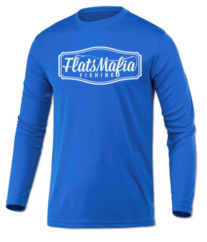 Electric Blue Dri-Fit Long Sleeve Tee