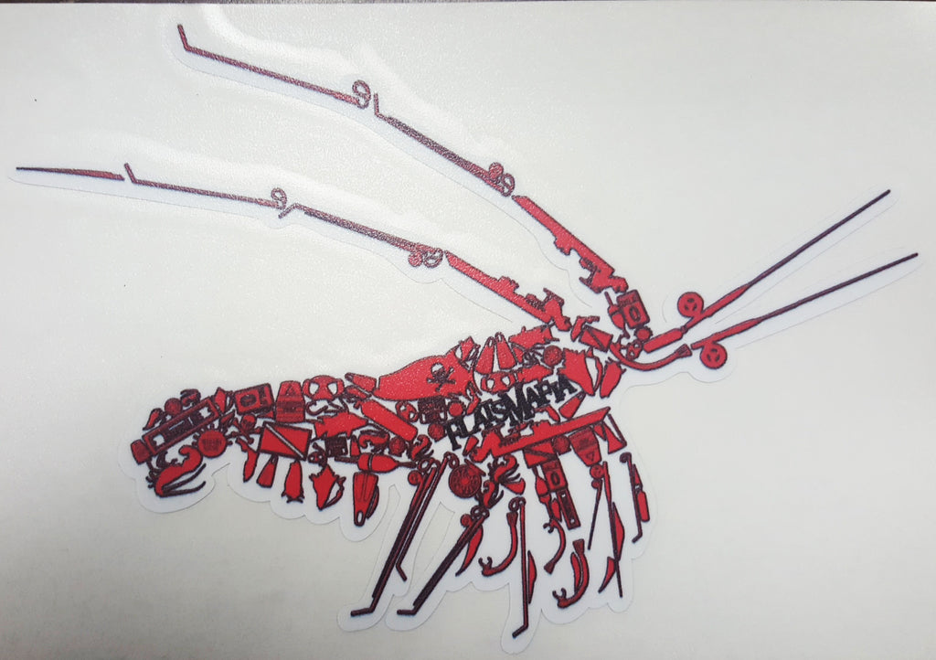 Rock lobster sticker