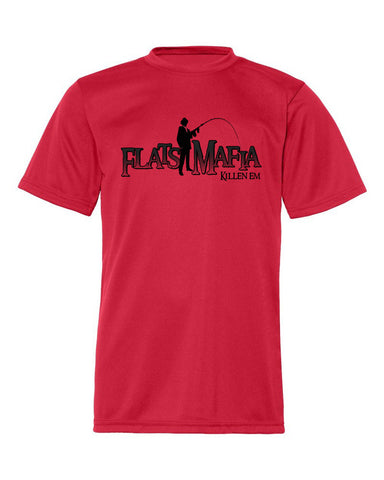 Red Youth Short Sleeve Dri-Fit