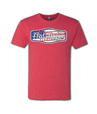 Red TriBlend USA FM Logo Short Sleeve Tee
