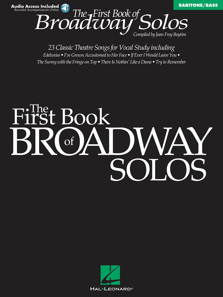 Hal Leonard The First Book Of Broadway Solos - Baritone/Bass