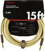 Fender 15' Tweed Instrument Cable - Straight
